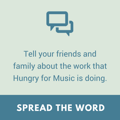 support hungry for music - social media
