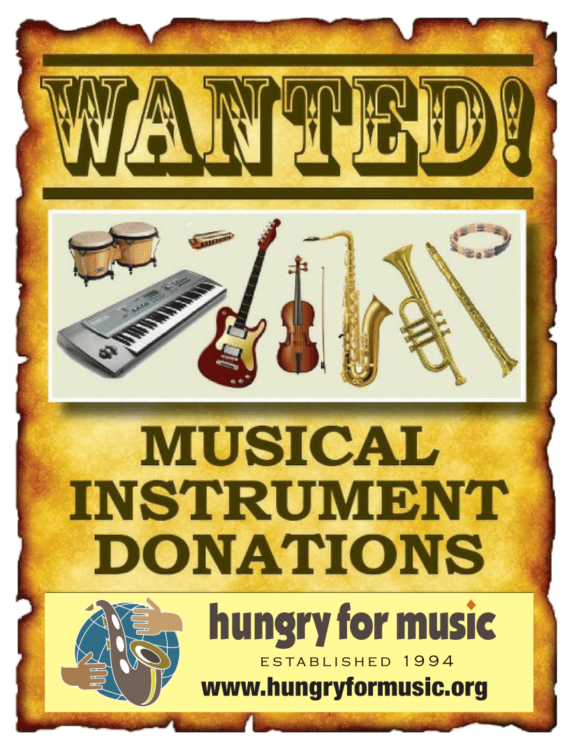Hungry for Music Wanted Poster Front